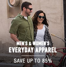 Men's & Women's Everyday Apparel - save up to 85%