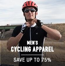Men's Cycling Apparel - save up to 75%
