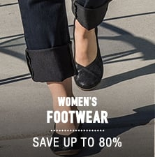 Women's Footwear - save up to 80%