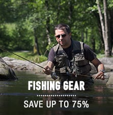 Fishing Gear - save up to 75%