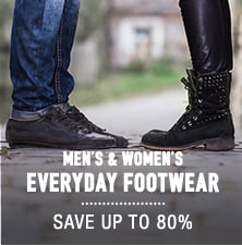 Men's & Women's Everyday Footwear - save up to 80%