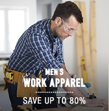 Men's Work Apparel - save up to 80%