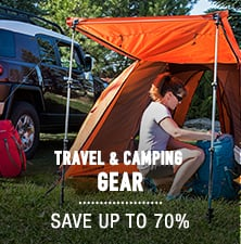 Travel & Camping Gear - save up to 70%