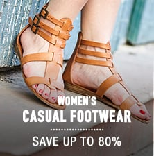Women's Casual Footwear - save up to 80%