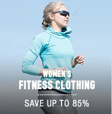 Women's Fitness Clothing - save up to 85%