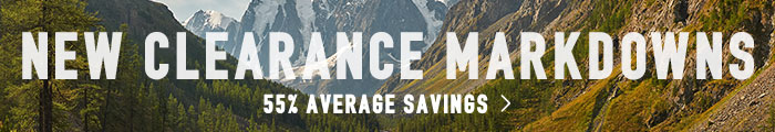 New Clearance Markdowns - 55% average savings