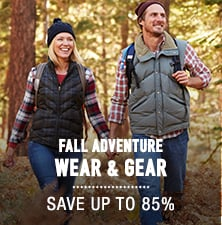 Fall Adventure-Wear & Gear - save up to 85%