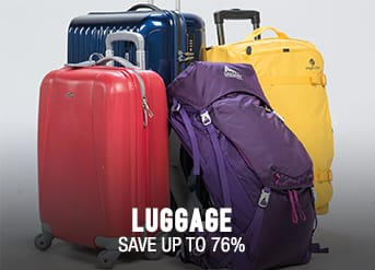 Luggage - save up to 76%
