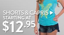 Shorts & Capris - starting at $12.95