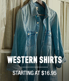 Western Shirts - starting at $16.95