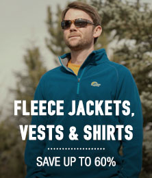 Fleece Jackets, Vests & Shirts - save up to 60%