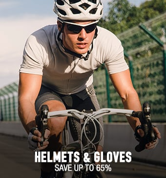 Helmets & Gloves - save up to 65%