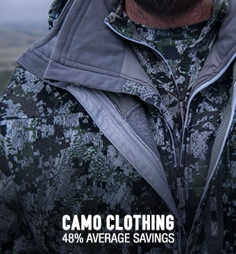 Camo Clothing - 48% average savings