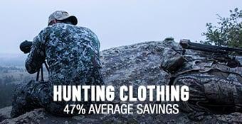 Hunting Clothing - 47% average savings