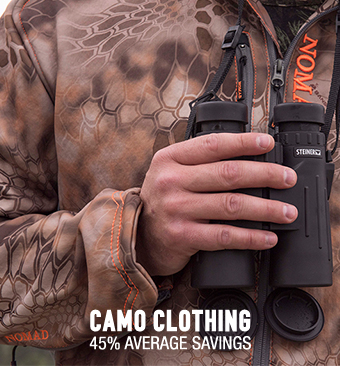 Camo Clothing - 45% average savings