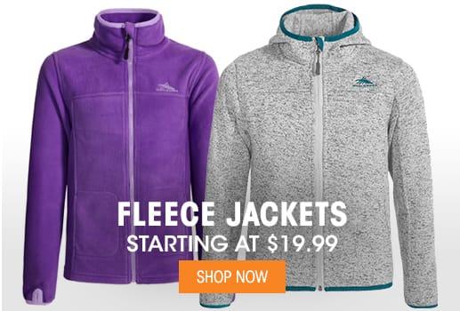 Fleece Jackets - Starting at $19.99