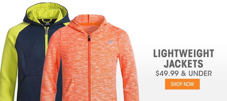 Lightweight Jackets - $49.99 & Under