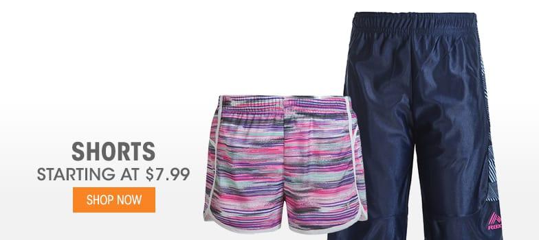 Shorts  - Starting at $7.99