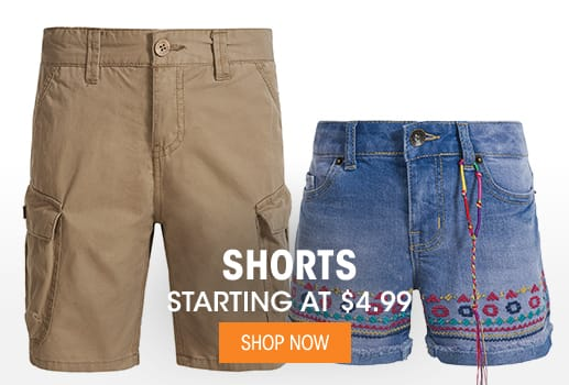 Shorts - Starting at $4.99