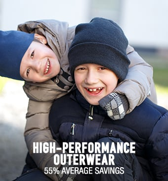 High-Performance Outerwear - 55% average savings