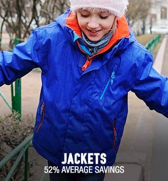 Jackets - 52% average savings