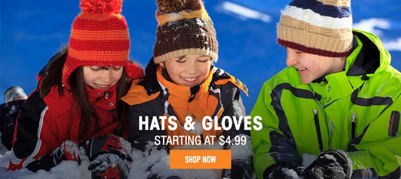 Hats & Gloves - starting at $4.99