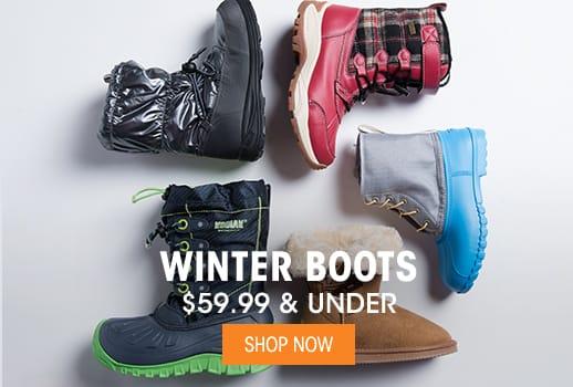 Winter Boots - $59.99 & Under