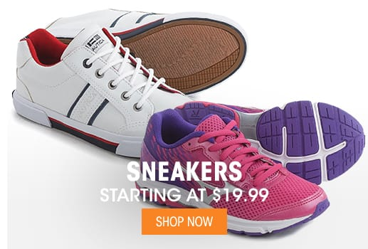 Sneakers - Starting at $19.99