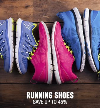 Running Shoes - save up to 45%