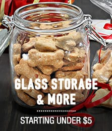 Glass Food Storage ∓ More - starting under $5