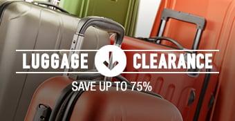 Luggage Clearance - 70% average savings