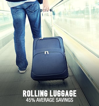 Rolling Luggage - 45% average savings