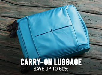Carry-On Luggage - save up to 60%