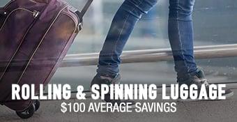Spinner & Rolling Luggage - $100 average savings