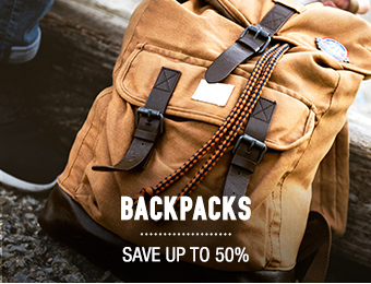 Backpacks - save up to 50%