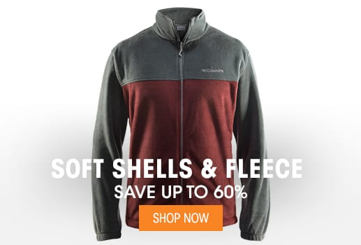 Soft Shells & Fleece - Save up to 60%