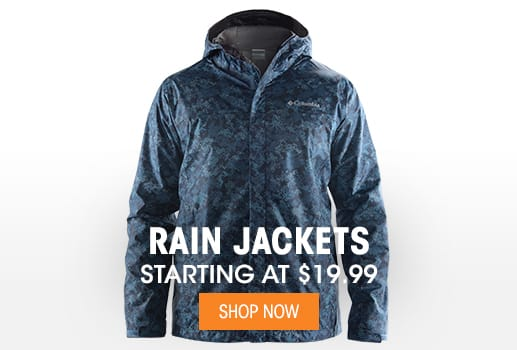 Rain Jackets - Starting at $19.99