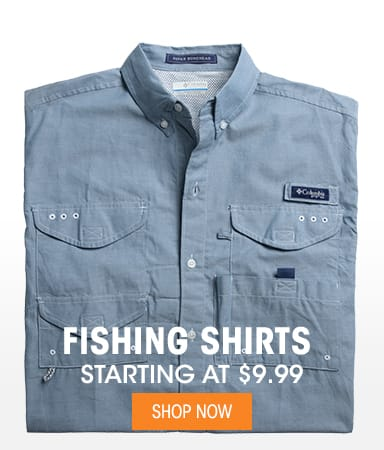 Fishing Shirts - Starting at $9.99