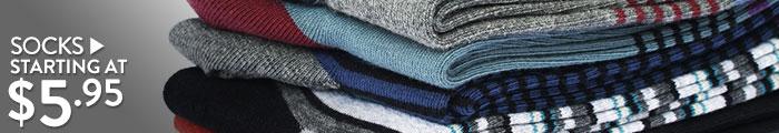 Socks - starting at $5.95