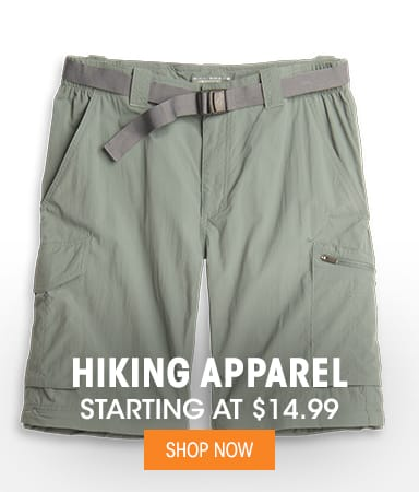 Hiking Apparel - Starting at $14.99