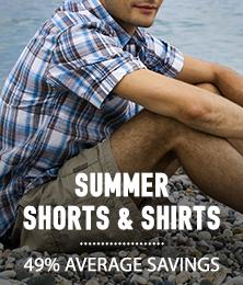 Summer Shorts & Shirts - average savings 49%