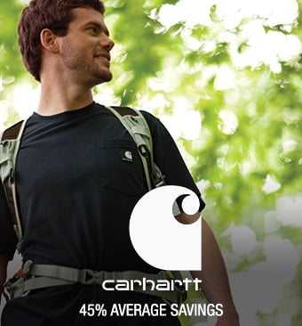 Carhartt - 45% average savings