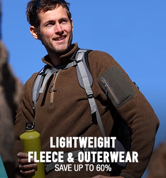 Lightweight Fleece & Outerwear - save up to 60%