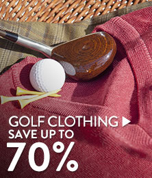 Golf Clothing - save up to 70%