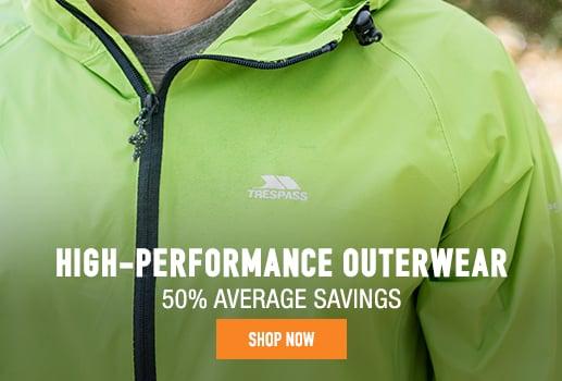 High-Performance Outerwear - 50% average savings