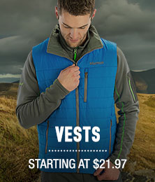 Vests - starting at $21.97