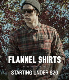 Flannel Shirts - starting under $20