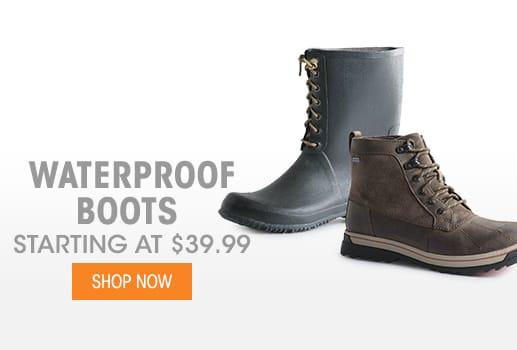 Waterproof Boots - Starting at $39.99