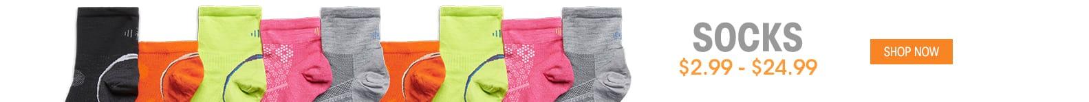 Socks - $2.99 - $24.99