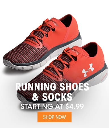 Running Shoes & Socks - Starting at $4.99